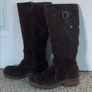 Kenneth Cole Reaction brown suede boots size 5 1/2